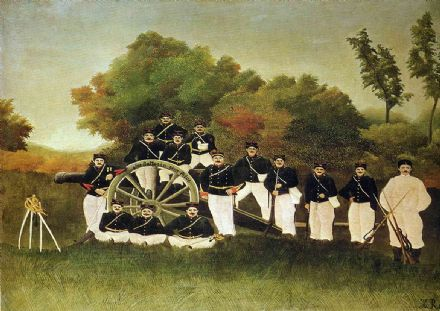 Rousseau, Henri: The Artillerymen. Fine Art Print/Poster. Sizes: A4/A3/A2/A1 (001229)